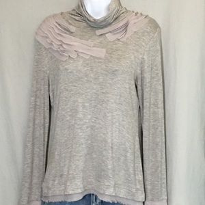 Shu Shu Gray Shirt Size Medium Raw Edge Details